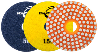 Cyclone Vitrified Pads